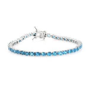 Malgache Neon Apatite Bracelet in Platinum Over Sterling Silver 8.00 cttw (7.25 In)