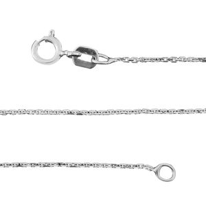 Sterling Silver Cable Chain (20 in) (1.2 g)
