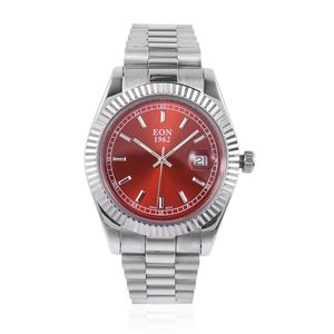 EXECUTIVE - Dress - EON 1962 Swiss Movement Water Resistant Watch in Stainless Steel