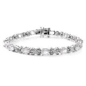 Natural White Zircon Sterling Silver Bracelet (7.50 In) TGW 9.50 cts.