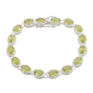 Hebei Peridot Sterling Silver Bracelet (8.00 In) TGW 9.60 cts.