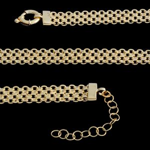 14K YG Over Sterling Silver Bismark Chain (20 in, 22.8 g) with Extender