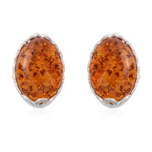 Baltic Amber Sterling Silver Stud Earrings