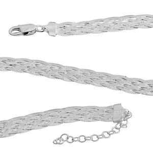 Sterling Silver Braided Chain (18 in)