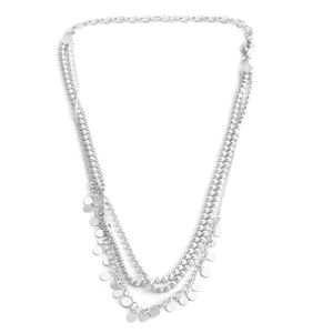 Sterling Silver Triple Strand Beaded Necklace (12-16 in) (13.3 g)
