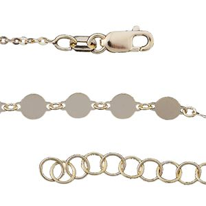 14K YG Over Sterling Silver Chain (18 in)