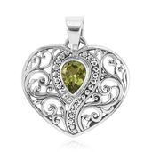 Bali Legacy Collection Brazilian Citrine Sterling Silver Heart Pendant without Chain TGW 1.07 cts.