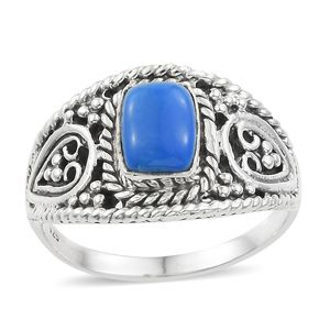 Artisan Crafted Ceruleite Sterling Silver Ring (Size 6.0) TGW 1.10 cts.