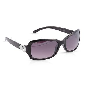VOX-Black Ombre UV Protected Impact Resistance Fashion Sunglasses with Silvertone Hinge
