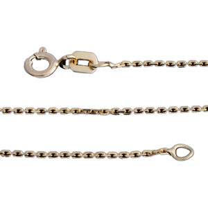 14K YG Over Sterling Silver Link Chain (20 in, 1.6 g)