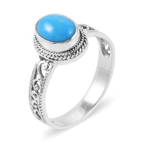 Bali Legacy Collection Arizona Sleeping Beauty Turquoise Sterling Silver Ring (Size 7.0) TGW 1.55 cts.