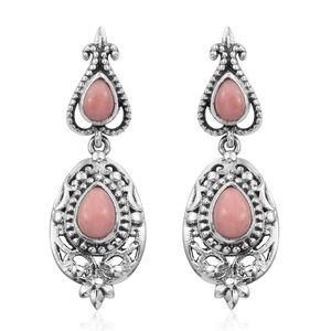 Artisan Crafted Oregon Peach Opal Sterling Silver Earrings TGW 1.68 cts.