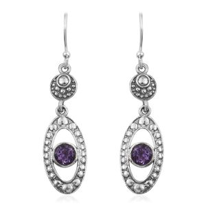 Bolivian Amethyst Sterling Silver Earrings TGW 1.02 cts.