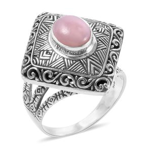 Bali Legacy Collection Peruvian Pink Opal Sterling Silver Ring (Size 7.0) TGW 1.90 cts.