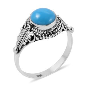 Bali Legacy Collection Arizona Sleeping Beauty Turquoise Sterling Silver Ring (Size 7.0) TGW 1.66 cts.
