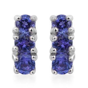 Premium AAA Tanzanite Sterling Silver Earrings TGW 0.72 cts.