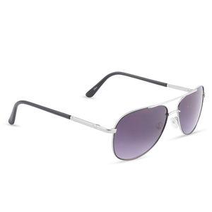 Solar X Eyewear - Wire Rimmed Pilot Sunglasses Silver/Black