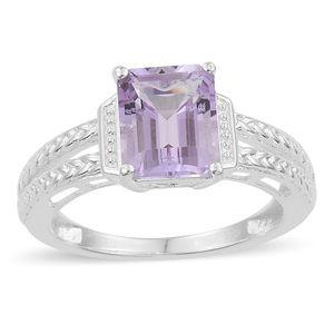 Rose De France Amethyst Sterling Silver Ring (Size 7.0) TGW 2.85 cts.