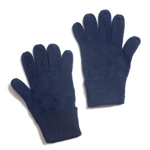 Navy 80% Lamb Wool and 20% Polyester Basic Knitted Gloves