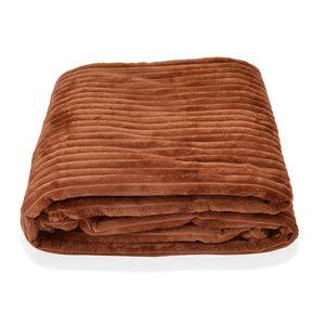 Brown Microfiber Flannel Corduroy Blanket (59.05x78.74 in)
