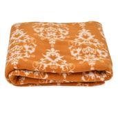 Brown Vintage Pattern Microfiber Fleece Blanket (51x66.9 in)