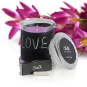 Customizable Chalkboard Scented Candle with Chalk Set Avg Burn Time 38 hours (Lavender Field)